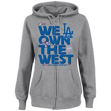 Los Angeles Dodgers Women's 2013 NL West Division Champions Full Zip Hood