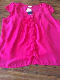 Millers Top Sheer Lined Brand New With Tags Crimson Size 18 Peasant Top