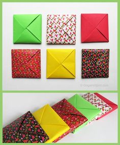 New origami envelope tutorial how to make Ideas Gato Origami, Origami Diy, Origami And Kirigami, Origami Paper Art, Origami Folding, Paper Folding, Diy Paper, Paper Crafting, Origami Design