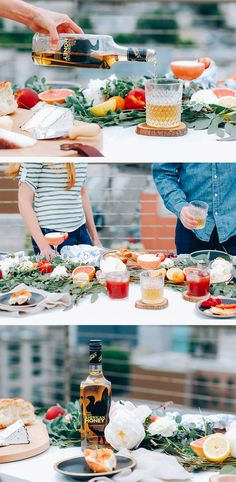Beautiful dinner party and amazing cocktail recipes.