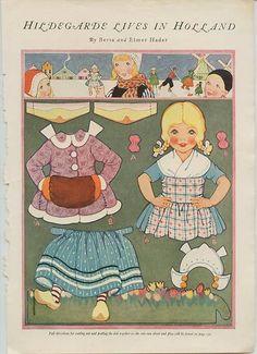 Kathleen Taylor's Dakota Dreams: Thursday Tab- Dolls by Berta and Elmer Hader Vintage Playmates, Paper Doll House, Paper Houses, Paper Crafts Magazine, Bobe, Vintage Paper Dolls, Retro Toys, Punch Art, Paper Toys