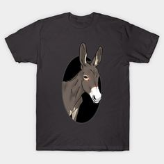 Peaking donkey - Donkey - T-Shirt   TeePublic Donkey Donkey, Different Colors, Batman, Superhero, Unique, Mens Tops, T Shirt, Fictional Characters, Design