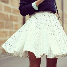 Flirty polka dot circle skirt. Love it!