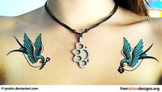 Always loved swallows on the chest think I might just have to do something like this
