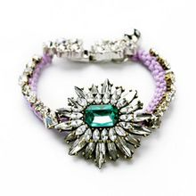 Luxuriant Gem Embellished Alloy Bracelet For Women