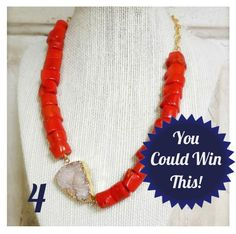 Enter by June 2nd for a chance to win this Summer Statement Necklace!