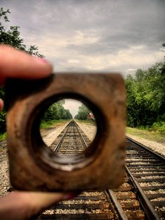 This is an online example of focal point. I feel this is a good example since the image draws the eye to the seemingly endless railroad that meets the horizon. Also, the object in the hand creates a separated part of the image for the eye to focus on that is clearer than the rest of the image.