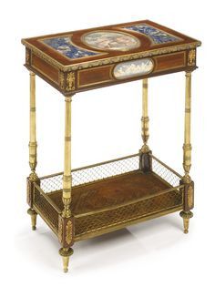 Blaise and Théodore Millet, Active 1853-1918. A LOUIS XVI STYLE GILT BRONZE MOUNTED MAHOGANY TABLE AMBULANTE, Paris, ca 1880s | Lot | Sotheby's