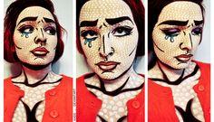 Lichtenstein-Inspired Makeup by Khdd on deviantART