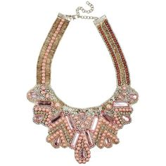 ASOS Faux Pearl Bib Necklace ($9.20) ❤ liked on Polyvore featuring jewelry, necklaces, pink, asos, simulated pearl necklace, pink necklace, bead necklace and asos jewelry