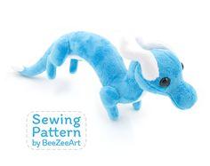 Shoulder Dragon Plush Sewing Pattern, Stuffed Animal Pattern, PDF File, Digital Download, Pattern, BeeZeeArt