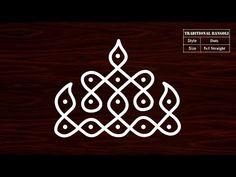 Creative Rangoli Kolam With Dots Rangoli Side Designs, Rangoli Designs Latest, Simple Rangoli Designs Images, Rangoli Borders, Free Hand Rangoli Design, Small Rangoli Design, Rangoli Patterns, Rangoli Designs Diwali, Rangoli Designs With Dots