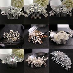 Crystal Rhinestone Pearl Wedding Hair Comb Hairpin Clip Bridal Accessories #ebay #Fashion