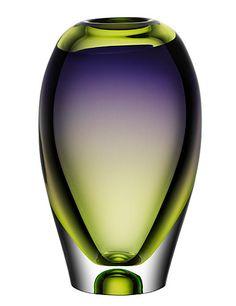 Murano vase, by Göran Wärff Kosta Boda Murano Glass Vase, Glass Ceramic, Glas Art, Deco Retro, Vases, Art Of Glass, Kosta Boda, Crystal Vase, Green And Purple