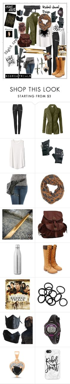 """What's with the spear?"" by aj-violin-girl on Polyvore featuring LE3NO, Gap, Funk Plus, Anaconda, LA77, AmeriLeather, Charlotte Russe, Timberland, Timex and YES"