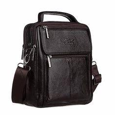 CHEER SOUL Messenger Bag, CHEER SOUL Brand Men's Briefcase, Men's Shoulder Crossbody Satchel 7009 | Snaky Buffalo