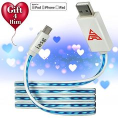 iasg Micro USB to USB Cable Visible Flowing LED Light Up Noodle Data Sync & Charging Cable Super Fast Transfer Speed up to 480Mb/s for Samsung Galaxy S3 / S4, HTC, Blackberry, Sony, Nokia & other Android Smartphones & Tablets (White and Blue) Iasg http://www.amazon.com/dp/B00Y4HHI7I/ref=cm_sw_r_pi_dp_BNQSwb08V4NGZ