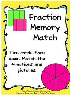 Fraction Memory Match -- Freebie!