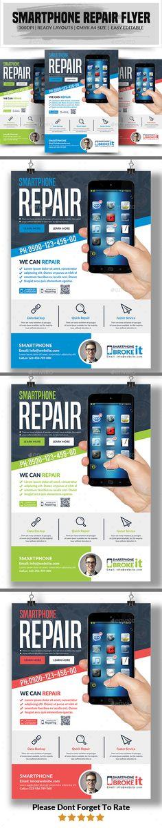 #Smartphone Repair #Flyer - Commerce Flyers