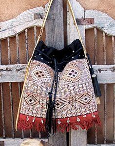 Vintage berber rug handbag from Spice Trade on etsy.com