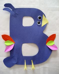 B is for Bird- and other fun letter associations.