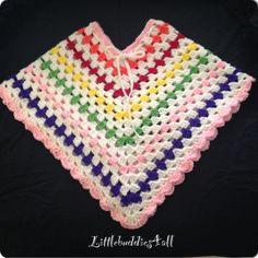 Toddler handmade crochet poncho Facebook/littlebuddies4all
