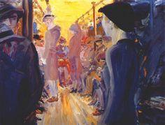 jack butler yeats (w.'s brother) 'a full tram' Irish Painters, Jack B, Blind Girl, Short Stories For Kids, Drawing School, Galleries In London, Irish Art, Pre Raphaelite, Mark Rothko