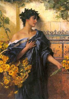 """Marguerite""  by Conrad Kiesel (German artist, 1846-1921)"