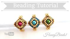 Tilaria Ring Easy Beading Tutorial by HoneyBeads1