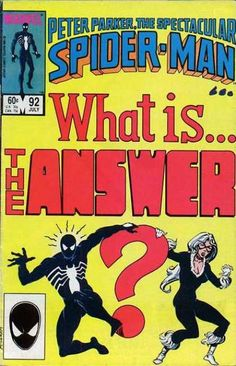 Spectacular Spiderman #92 first appearance of the Answer