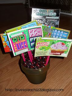 "Lottery Ticket ""Plant"" - Gift idea!  Finally, a plant I don't have to worry about dying on me!"