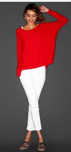 Red and white with stripe shoes - Eileen Fisher