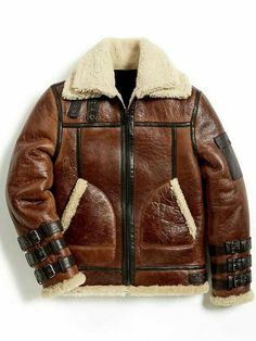 Check out our splendid Leather Jackets Collection. We gives amazing Mens Bomber Real Shearling Sheepskin Jacket with the finest price offer get it now. Bomber Sheepskin Leather Jacket for. Mens Shearling Jacket, Brown Leather Jacket Men, Bomber Jacket Men, Leather Men, Military Jacket, Leather Jackets Online, Sheepskin Jacket, Aviator Jackets, Stylish Men