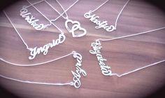 Verižice z imenom iz srebra 925 http://bromelia.si/zenski-nakit/ogrlice/ogrlice-z-imenom
