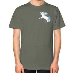 Unicorn White Unisex T-Shirt (on man)