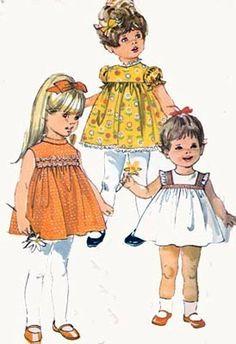Vintage 60s Simplicity 8016 Yoked Smock Dress by sandritocat, $9.00
