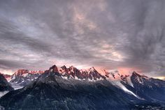 Le Mont Blanc, highest mountains in France