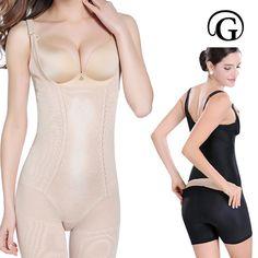 PRAYGER New Plus 5XL Open Butt Full Body Shaper Women Slimming Body  Building BodySuits Lift Bra e5bbe9b25