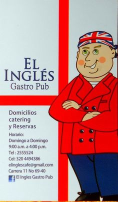 El Inglés Gastro Pub- English Restaurant in Bogotá has humour Gastro Pubs, Mario, English, Restaurant, Humor, Diner Restaurant, English Language, Restaurants, Dining