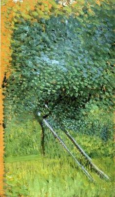 'Baum mit Ladder', 1907 von Richard Gerstl (1883-1908, Austria)