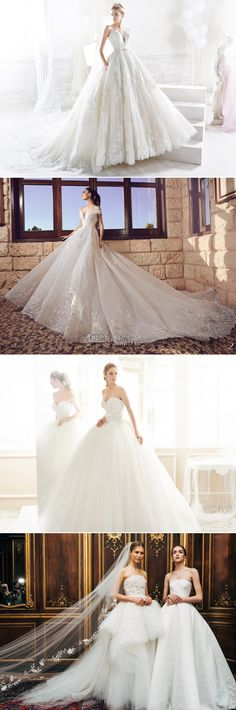 There's absolutely nothing like a fluffy ball gown to make a bride look like a princess, and it seems like designers are working hard to fulfill every childhood dream in 2018!  2018 bridal collections present some of the most beautiful ball gowns you could ever imagine, and you just won't find a more regal option.  …