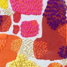 Detail of my artwork going in Craft NSW's Emerging Art Craft Award Abstract Embroidery, Beaded Embroidery, Embroidery Patterns, Hand Embroidery, Print Patterns, Diy Broderie, Textiles Techniques, Textile Fiber Art, Fabric Manipulation