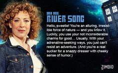 I took Zimbio's 'Doctor Who' quiz and I'm River Song! Who are you? #ZimbioQuiznull - Quiz