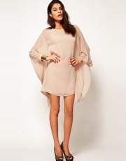 ASOS | ASOS Shift Dress With Draped Sleeves at ASOS