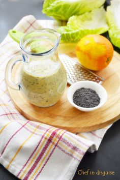 citrus poppy seed salad dressing @ chef in disguise Salad Dressing Recipes, Salad Dressings, Paleo Recipes, Cooking Recipes, Paleo Food, Japanese Salad, Sauces, Poppy Seed Dressing, Homemade Sauce