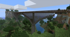 That's one gorgeous bridge! Amazing what you can build in minecraft!