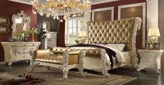 * Victorian European<br />* 1 Estern King Bed<br />* 2 Nightstand<br />* 1 Dresser<br />* 1 Mirror
