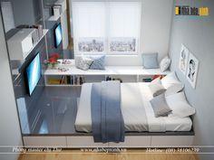 Thiết kế phòng ngủ đẹp hiện đại sang trọng với gam màu xám nổi bật