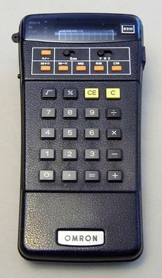 Vintage Omron Model 89M Handheld LED Electronic Calculator, Made in Singapore, Circa 1970s.