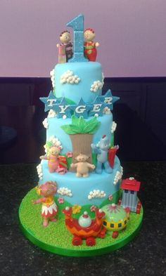 Three Tiered ' In the night garden ' Cake